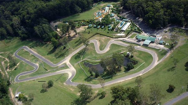 Go Karts. Ariel view of Raleigh International Raceway Coffs Harbour